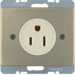 41679011 Socket outlet with earthing contact USA/CANADA NEMA 5-15 R with screw terminals,  Berker Arsys,  light bronze matt,  lacquered