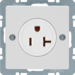 41686089 Socket outlet with earthing contact USA/CANADA NEMA 5-20 R with screw terminals,  polar white velvety