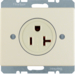 41690002 Socket outlet with earthing contact USA/CANADA NEMA 5-20 R with screw terminals,  Berker Arsys,  white glossy