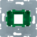 454004 Supporting plate with green mounting device 1gang for modular jack Communication technology