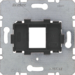 454201 Supporting plate with black mounting device 1gang for modular jack Communication technology