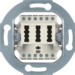 454402 TAE socket outlet 2x6/6 NFF Communication technology,  white matt