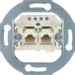 4562 FCC socket outlet,  2 x 8 (4)-pole,  cat.3 Communication technology,  white