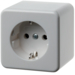 470049 SCHUKO socket outlet surface-mounted Surface-mounted,  polar white glossy