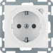 47088989 SCHUKO socket outlet with residual current circuit-breaker enhanced contact protection,  polar white glossy