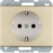 47140002 SCHUKO socket outlet Berker Arsys,  gold matt,  aluminium anodised