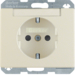 47380002 SCHUKO socket outlet with labelling field,  enhanced contact protection,  Berker Arsys,  white glossy