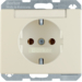 47390002 SCHUKO socket outlet with labelling field,  Berker Arsys,  white glossy