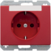 47390062 SCHUKO socket outlet with labelling field,  Berker Arsys,  red glossy