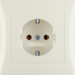 47428982 SCHUKO socket outlet with cover plate Berker S.1, white glossy