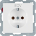 "47436009 SCHUKO socket outlet with ""EDV"" imprint in black polar white velvety"