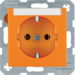 47501907 SCHUKO socket outlet with labelling field,  orange matt