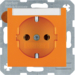 47508907 SCHUKO socket outlet with labelling field,  orange glossy