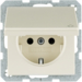47516062 SCHUKO socket outlet with hinged cover