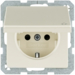 47516082 SCHUKO socket outlet with hinged cover with enhanced touch protection