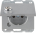 47637003 SCHUKO socket outlet with hinged cover Lock - differing lockings,  Berker K.5, aluminium,  matt,  lacquered