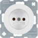 6167032089 Socket outlet without earthing contact polar white glossy