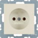 6167038982 Socket outlet without earthing contact Berker S.1, white glossy