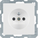 6765766089 Socket outlet with earthing pin with enhanced touch protection,  with screw-in lift terminals,  polar white velvety