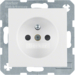 6765768989 Socket outlet with earthing pin with enhanced touch protection,  with screw-in lift terminals,  polar white glossy
