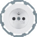 6765792089 Socket outlet with earthing pin Installation position variable in 45° steps,  with enhanced touch protection,  with screw-in lift terminals,  Serie R.classic,  polar white glossy