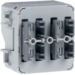 80141200 Push-button module 1gang surface-mounted/flush-mounted with integral bus coupling unit