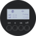 85745231 KNX radio timer quicklink with display,  black glossy